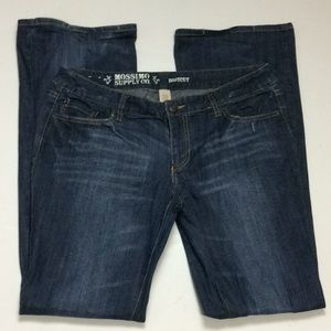 Mossimo Ladies Bootcut Distressed Jeans Sz 15L